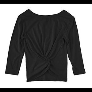 Twist-back long-sleeve T-shirt NWT